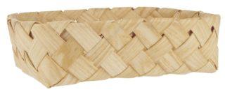 Drevený košíček bez rúčky z drevnej jaseňovej štiepky.