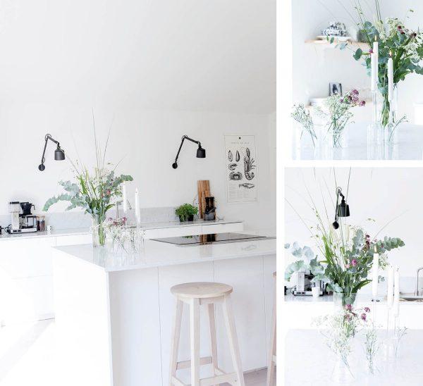 2 v 1. Sklenený svietnik a váza v jednoduchom a štýlovom tvare malej banky z číreho skla.