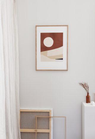 Moderný umelecký grafický plagát tlačený v HD rozlíšení na vysokokvalitný papier Hahnemühle.