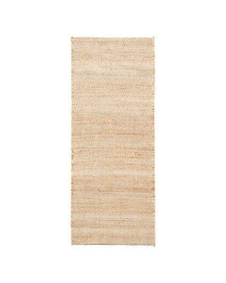 Prírodný jutový koberec obdĺžnikové tvaru o rozmere 130 x 85 cm.