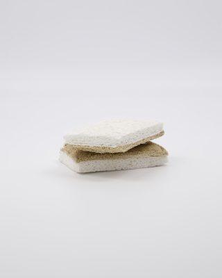 Ekologická špongia na riad zo 100% drevnej buničiny. Sada 2 ks.