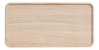 Drevený podnos o rozmere 12 x 24 cm z dubového dreva v prírodnej farbe zo série CREATE ME.