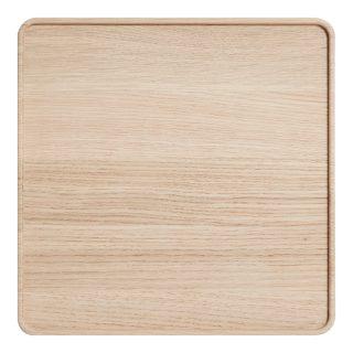 Drevený podnos o rozmere 24 x 24 cm z dubového dreva v prírodnej farbe zo série CREATE ME.