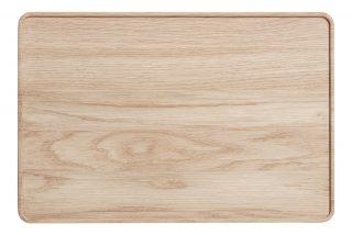 Drevený podnos o rozmere 36 x 24 cm z dubového dreva v prírodnej farbe zo série CREATE ME.
