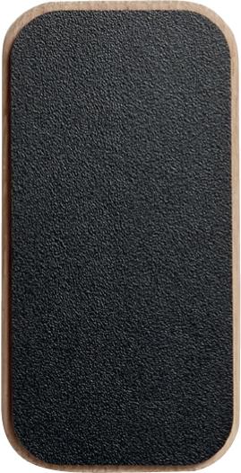 Drevený vrchnák z dizajnovej kolekcie CREATE ME z dubového dreva v čiernej farbe.