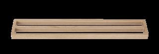 Klasický a elegantný vešiak na dva uteráky z dubového dreva v prírodnej farbe.