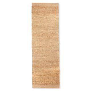 Tkaný konopný behúň s podkladom z bavlneného plátna o rozmere 200 x 60 cm v prírodnej krémovej farbe oživí každú predsieň.