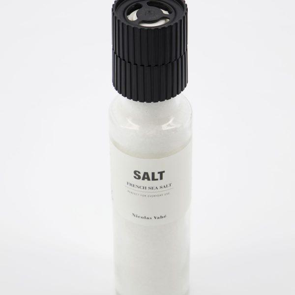 Delikatesa soľ FRENCH SEA od Nicolas Vahé v praktickom a dizjanovom mlynčeku v objeme 335 g.