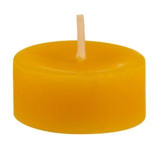 Čajová sviečka zo včelieho vosku BEE je vyrobená zo 100% včelieho vosku.
